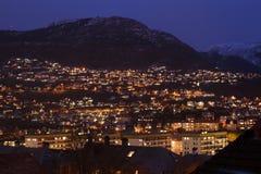 nuit de Bergen Image libre de droits