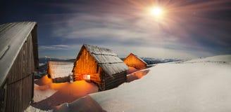 Nuit de bergers de Chambres Image stock