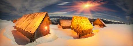 Nuit de bergers de Chambres Photographie stock