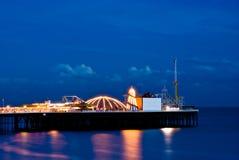 nuit de Brighton photo stock