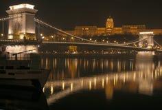 nuit de Budapest image libre de droits