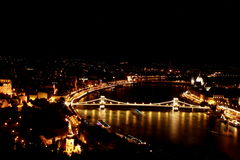 Nuit de Budapest Photo stock