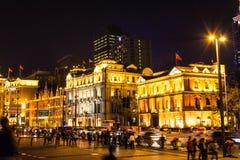 Nuit de Bund, Changhaï Photographie stock libre de droits