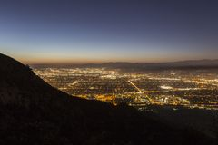 Nuit de Burbank la Californie photos libres de droits