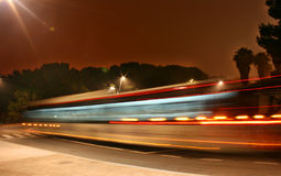 nuit de bus photo stock