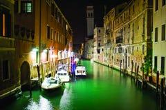 nuit de canal vénitienne Image stock