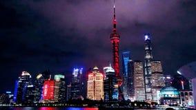 Nuit de Changhaï photographie stock libre de droits