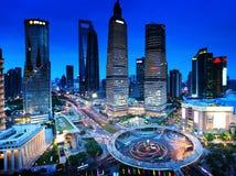 Nuit de Changhaï image libre de droits