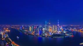 Nuit de Changhaï Photo libre de droits