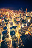 Nuit de Chicago Images stock