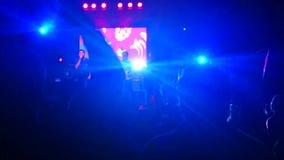Nuit de concert de rock banque de vidéos