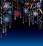 Nuit de confettis Photographie stock
