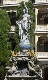 Nuit de déesse de fontaine Image stock