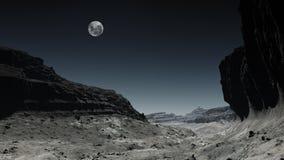 Nuit de désert Photo libre de droits