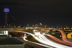 Nuit de Dallas photos stock