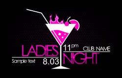 Nuit de dames Image stock