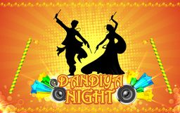 Nuit de Dandiya Image libre de droits