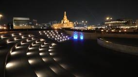 Nuit de Doha d'amphithéâtre banque de vidéos