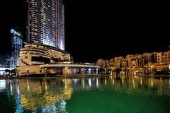 Nuit de Dubaï Photos libres de droits