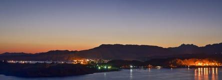 Nuit de février dans le Sharm el Sheikh Photos libres de droits