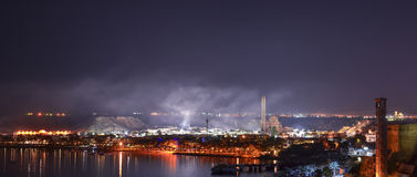 Nuit de février dans le Sharm el Sheikh Photo stock