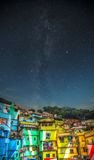 Nuit de Favela Images stock