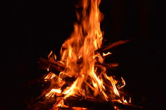 Nuit de feu Photo stock
