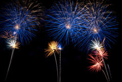 Nuit de feux d'artifice photo stock