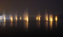 nuit de fontaines photo stock