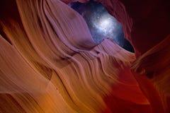 Nuit de gorge de désert Photographie stock libre de droits