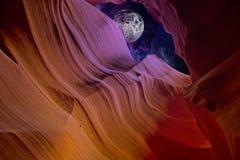 Nuit de gorge de désert Photo libre de droits