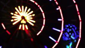 Nuit de grande roue banque de vidéos