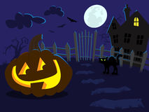 Nuit de Halloween Photo libre de droits