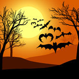 Nuit de Halloween Photographie stock