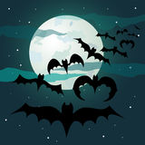 Nuit de Halloween Photo stock