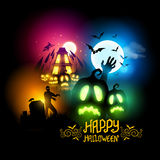 Nuit de Halloween Photos libres de droits