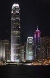 Nuit de Hong Kong Image stock