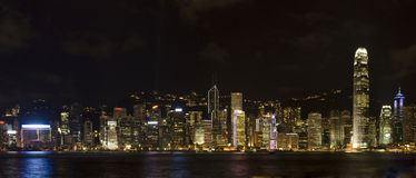 Nuit de Hong Kong Images stock