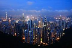 Nuit de Hong Kong photographie stock libre de droits