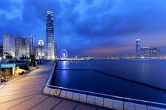 Nuit de Hong Kong Photos libres de droits