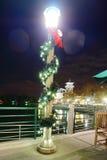 Nuit de Kissimmee : décoration de Noël Photographie stock libre de droits