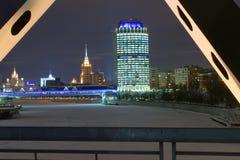 Nuit de l'hiver à Moscou Photo stock