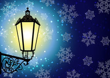 Nuit de l'hiver Photos libres de droits