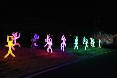 Nuit de la Corée de festival d'illumination de lumière d'Illumia Photographie stock libre de droits