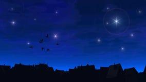Nuit de la ville fabuleuse illustration de vecteur