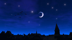 Nuit de la ville fabuleuse illustration stock