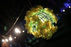 Nuit de lanterne dans le festival Photographie stock libre de droits
