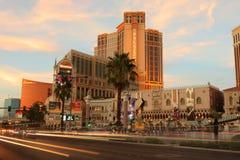 Nuit de Las Vegas Photographie stock libre de droits