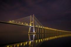 Nuit de Lisbonne Image stock