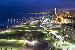 Nuit de littoral de Durban Photos stock
